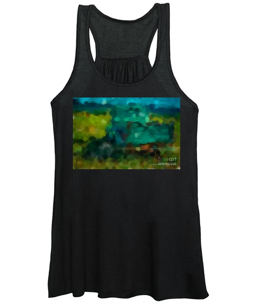 Green Truck In Abstract Women's Tank Top