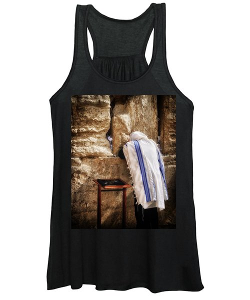 Harken Unto My Prayer O Lord Western Wall Jerusalem Women's Tank Top