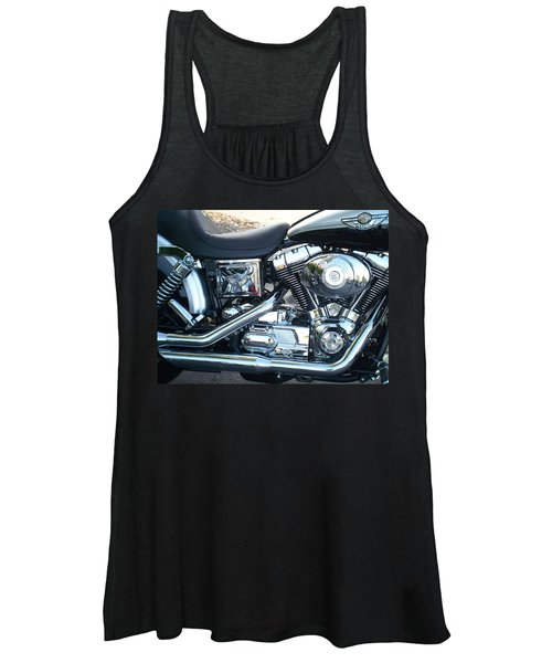 Harley Black And Silver Sideview Women's Tank Top