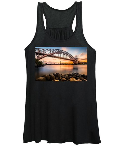 Hell Gate And Triboro Bridge At Sunset Women's Tank Top