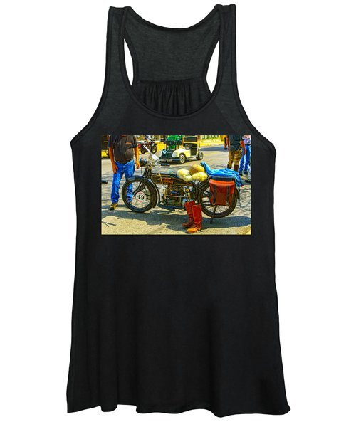 Henderson At Cannonball Motorcycle Women's Tank Top