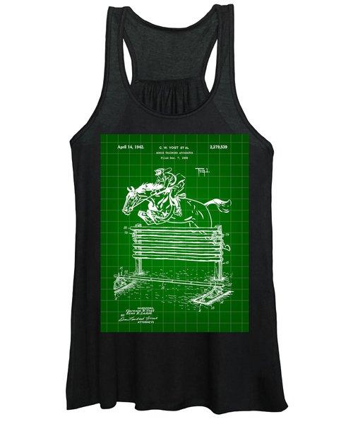 Horse Jump Patent 1939 - Green Women's Tank Top