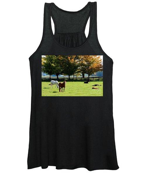 Horses In Fall Women's Tank Top