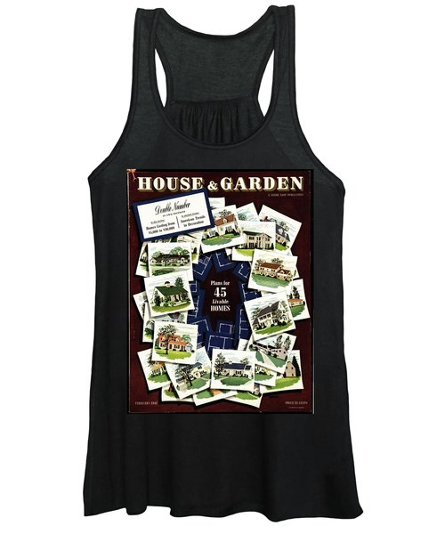 House And Garden Cover Featuring A Collage Women's Tank Top