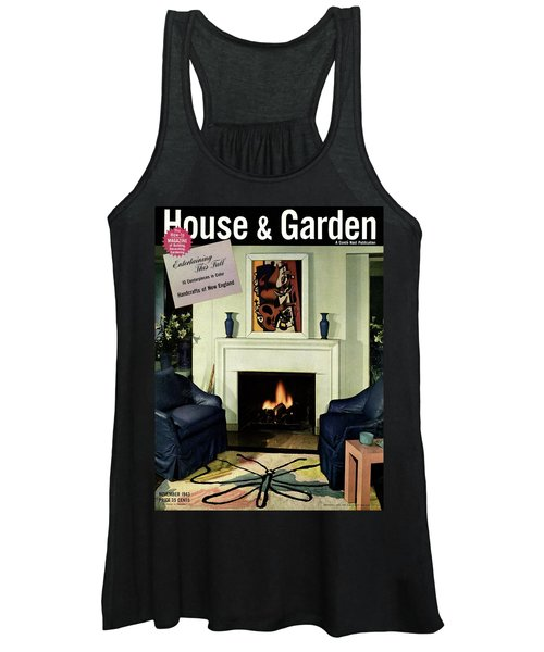 House And Garden Cover Featuring A Living Room Women's Tank Top