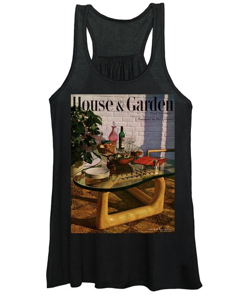 House And Garden Cover Featuring Brunch Women's Tank Top