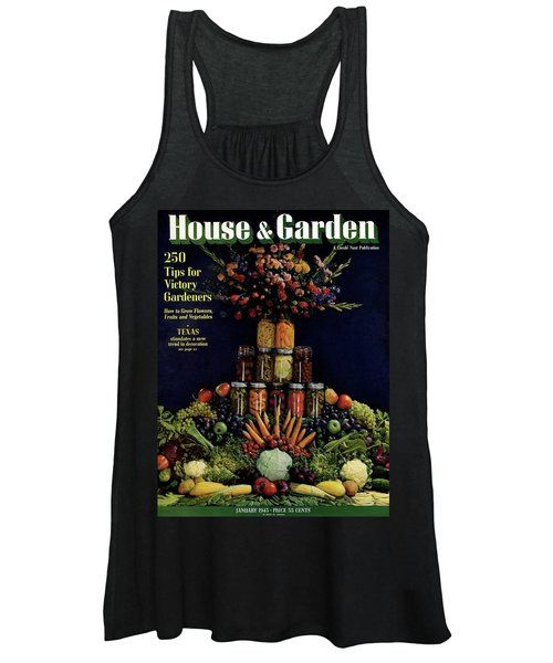House And Garden Cover Featuring Fruit Women's Tank Top