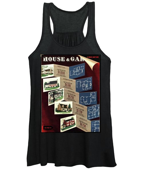 House And Garden Cover Featuring Houses Women's Tank Top