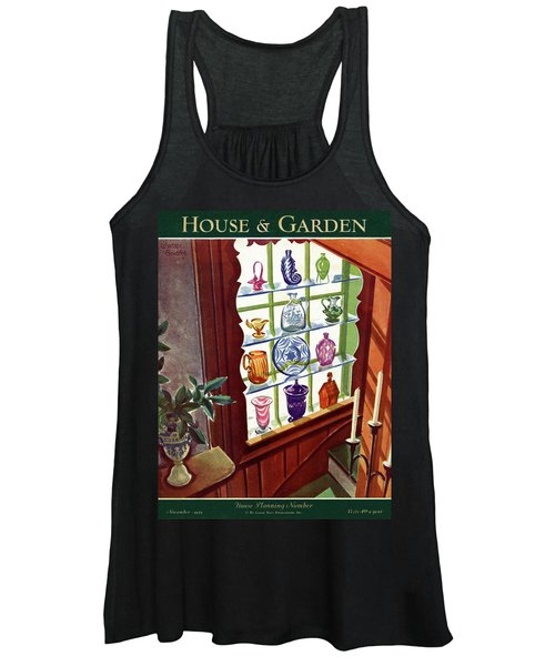 House And Garden House Planning Number Cover Women's Tank Top