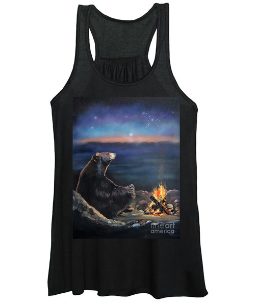 How Grandfather Bear Created The Stars Women's Tank Top