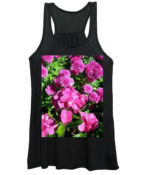 Hydrangea And Mums  Women's Tank Top