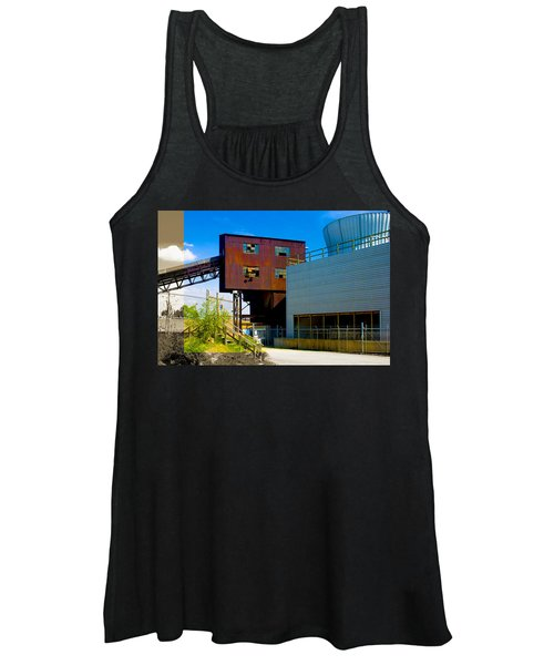 Industrial Power Plant Architectural Landscape Women's Tank Top