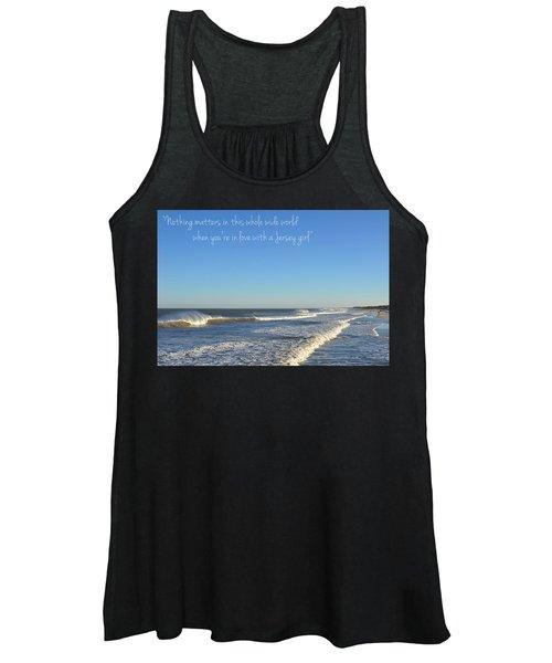 Jersey Girl Seaside Heights Quote Women's Tank Top
