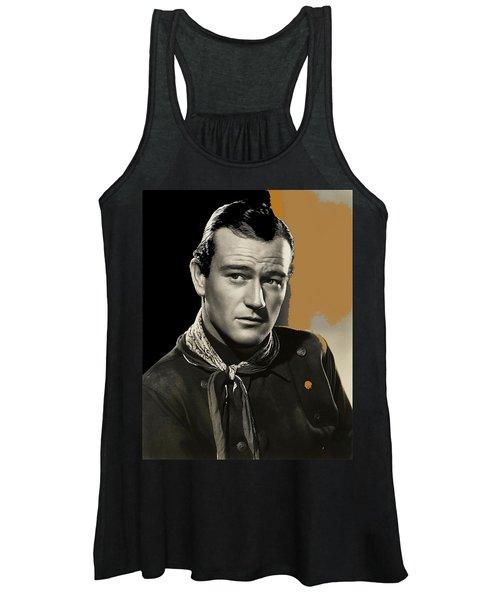 John Wayne  Publicity Photo In Costume Stagecoach 1939-2009 Women's Tank Top