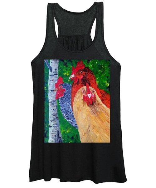 John's Chickens Women's Tank Top