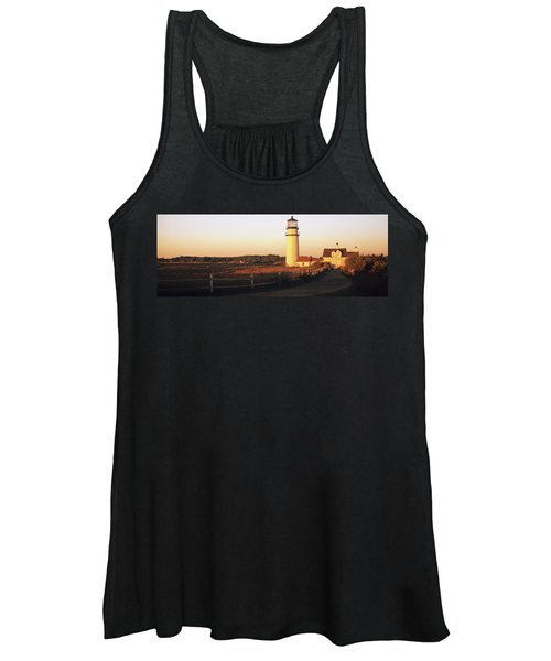 Lighthouse In The Field, Highland Women's Tank Top