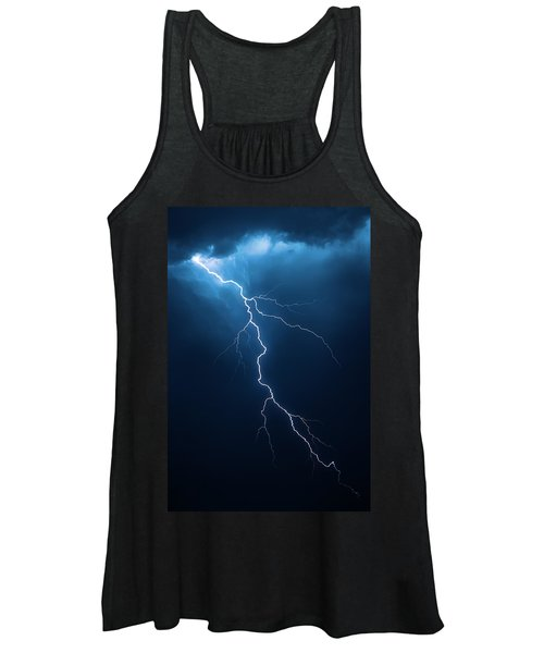 Lightning With Cloudscape Women's Tank Top