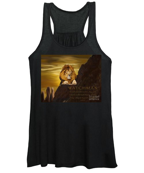 Lion Watchman Women's Tank Top