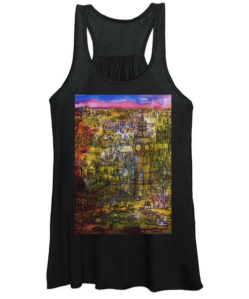 London, Westminster Pen & Ink With Wc On Paper Women's Tank Top