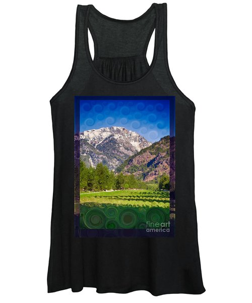 Lost River Airport Runway Abstract Landscape Painting Women's Tank Top