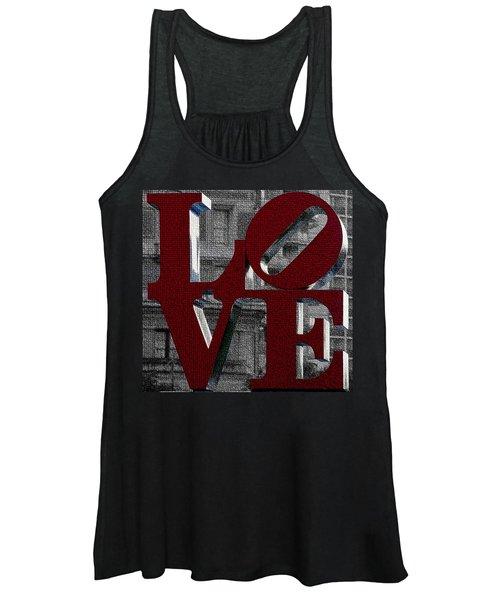 Love Philadelphia Red Mosaic Women's Tank Top