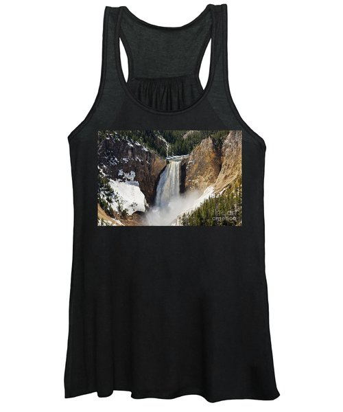 Lower Falls Of The Yellowstone Women's Tank Top