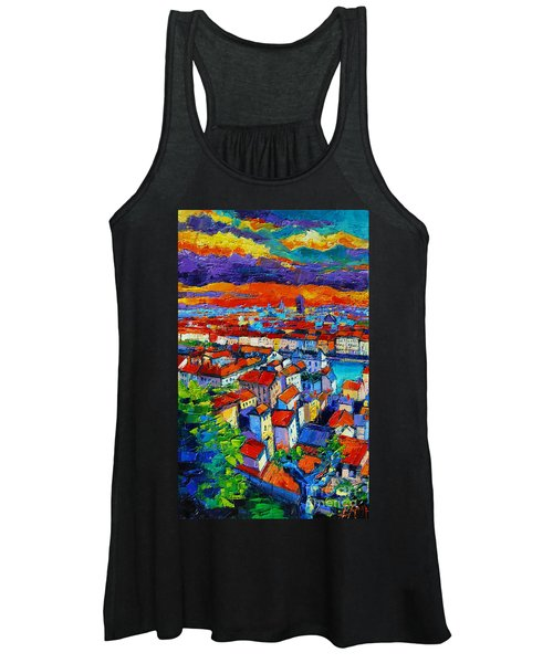 Lyon View - Triptych Left Panel Women's Tank Top