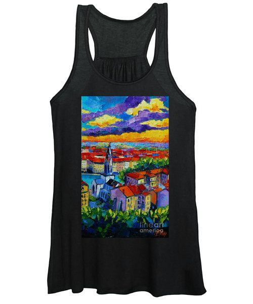 Lyon View - Triptych Right Panel Women's Tank Top