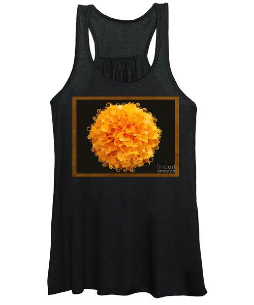 Marigold Magic Abstract Flower Art Women's Tank Top
