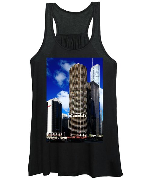 Marina City Corncob Tower Women's Tank Top