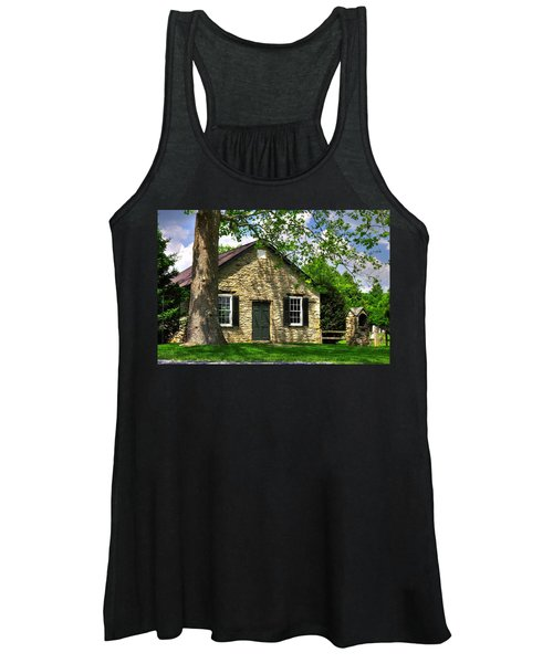 Maryland Country Churches - Fairview Chapel-1a Spring - Established 1847 Near New Market Maryland Women's Tank Top