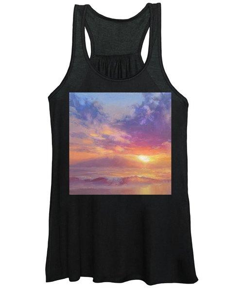 Coastal Hawaiian Beach Sunset Landscape And Ocean Seascape Women's Tank Top