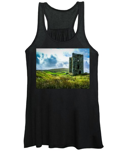 Women's Tank Top featuring the photograph Medieval Dunmanus Castle On Ireland's Mizen Peninsula by James Truett