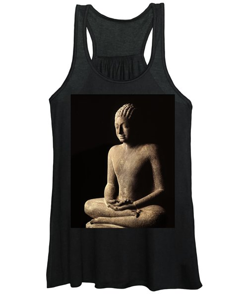 Meditating Buddha, Davaravati Period Women's Tank Top