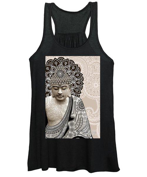 Meditation Mehndi - Paisley Buddha Artwork - Copyrighted Women's Tank Top