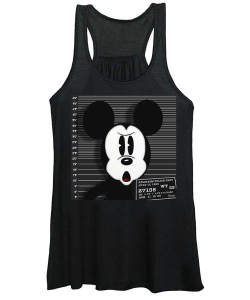 Mickey Mouse Disney Mug Shot Women's Tank Top