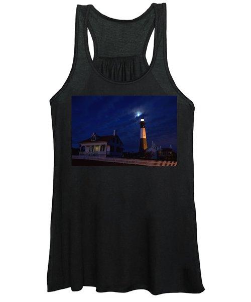 Midnight Moon Over Tybee Island Women's Tank Top