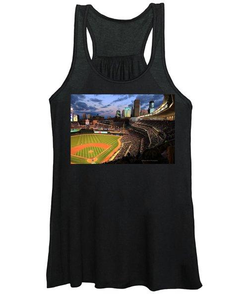 Minnesota Twins Minneapolis Skyline Target Field Women's Tank Top
