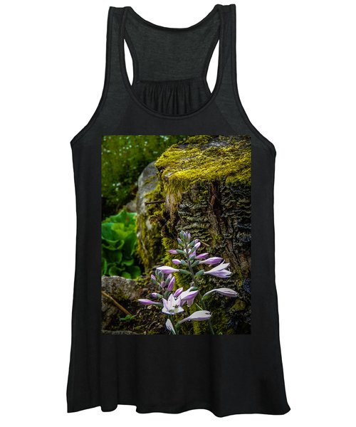 Women's Tank Top featuring the photograph Moss And Flowers In Markree Castle Gardens by James Truett