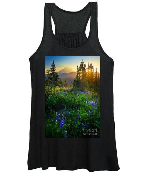 Mount Rainier Sunburst Women's Tank Top