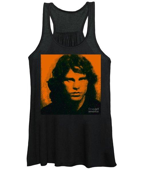 e047e9f69b8dab Mugshot Jim Morrison Square Women s Tank Top