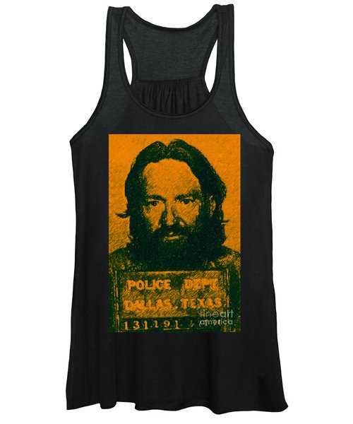 Mugshot Willie Nelson P0 Women's Tank Top