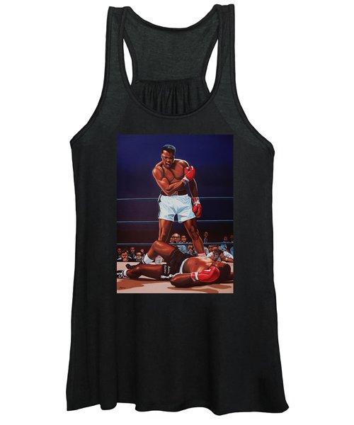 Muhammad Ali Versus Sonny Liston Women's Tank Top