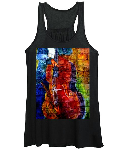 Musician Bass And Brick Women's Tank Top