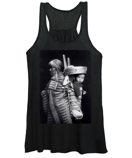 Navaho Woman Carrying A Papoose On Her Back Women's Tank Top