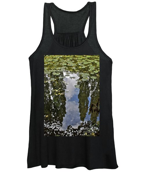 Reflections Amongst The Lily Pads Women's Tank Top