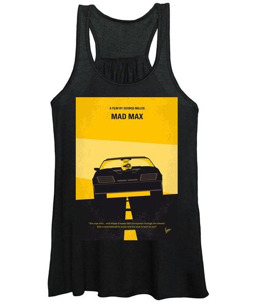 No051 My Mad Max Minimal Movie Poster Women's Tank Top