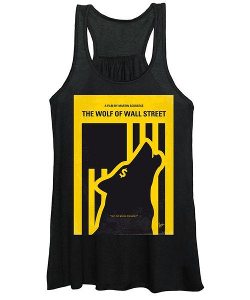 No338 My Wolf Of Wallstreet Minimal Movie Poster Women's Tank Top