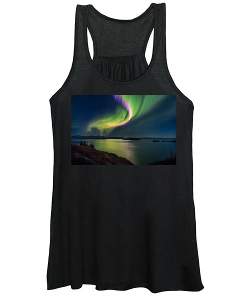 Northern Lights Over Thingvallavatn Or Women's Tank Top