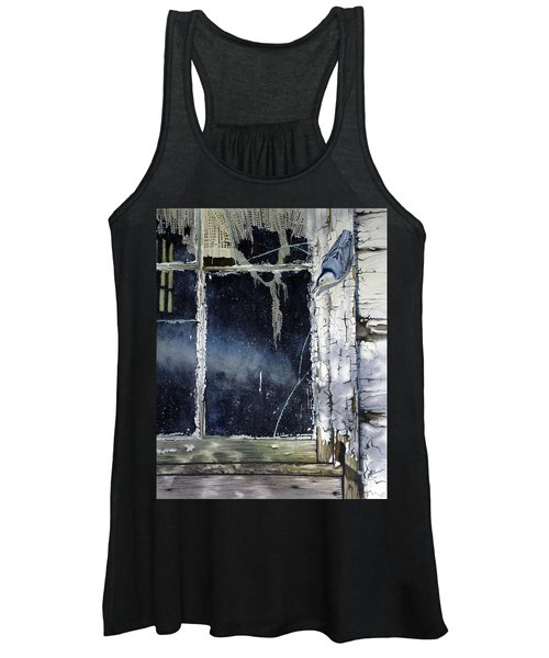 Nuthatch And Window Women's Tank Top